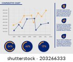 business template   comparative ...   Shutterstock .eps vector #203266333