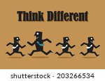 think different | Shutterstock .eps vector #203266534