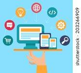 vector webdesign and... | Shutterstock .eps vector #203266909