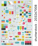 collections of infographics... | Shutterstock .eps vector #203267008