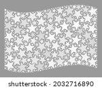 mosaic waving white flag... | Shutterstock .eps vector #2032716890