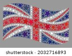 mosaic waving united kingdom... | Shutterstock .eps vector #2032716893