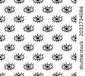 third eye. black and white...   Shutterstock .eps vector #2032734086