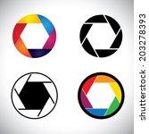 camera lens shutter aperture... | Shutterstock .eps vector #203278393