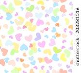 motley seamless girly... | Shutterstock .eps vector #203281516