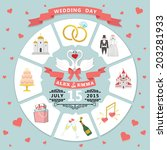 wedding infographic set with... | Shutterstock .eps vector #203281933
