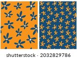 cute hand drawn floral vector...   Shutterstock .eps vector #2032829786