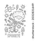 halloween coloring page for... | Shutterstock .eps vector #2032831649