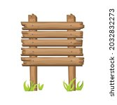 wooden sign board on grass in...