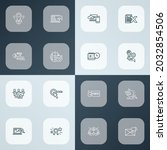 seo icons line style set with...   Shutterstock .eps vector #2032854506