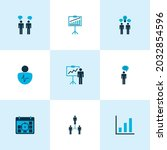 authority icons colored set...   Shutterstock .eps vector #2032854596
