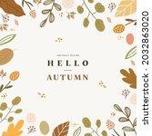 autumn shopping event... | Shutterstock .eps vector #2032863020