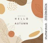 autumn shopping event... | Shutterstock .eps vector #2032863026