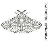 decorative fantastic moth.... | Shutterstock .eps vector #2032867490