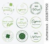 set of logo  sticker  labels... | Shutterstock .eps vector #2032875920