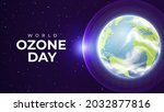 realistic world ozone day with...   Shutterstock .eps vector #2032877816