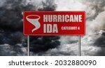 Hurricane Ida Banner With Storm ...