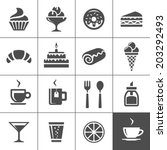 cafe and confectionery icon set.... | Shutterstock .eps vector #203292493