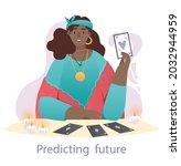 fortune teller at work concept. ...   Shutterstock .eps vector #2032944959