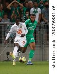 Small photo of Timothy WEAH of Lille and Mahdi CAMARA during French championship Ligue 1 football match Saint-Etienne vs LOSC Lille 8-21-2021 Geoffroy-Guichard stadium Saint-Etienne France Photo Romain Biard