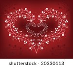 pattern with flowers in a shape ... | Shutterstock . vector #20330113