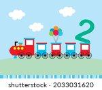 cute train cartoon 2 years old...   Shutterstock .eps vector #2033031620