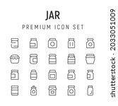 premium pack of jar line icons. ...