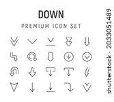premium pack of down line icons....