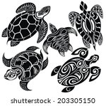 turtles | Shutterstock .eps vector #203305150