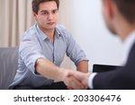 business people handshake ... | Shutterstock . vector #203306476