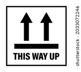 this way up package sticker...