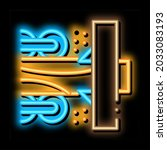 wood trunk grinding neon light... | Shutterstock .eps vector #2033083193
