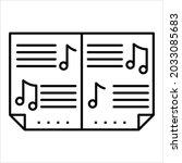 music score icon  manuscript... | Shutterstock .eps vector #2033085683