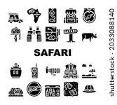 safari african hunting vacation ... | Shutterstock .eps vector #2033088140