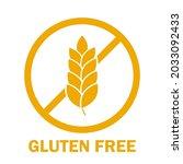 gluten free icon  isolated on... | Shutterstock .eps vector #2033092433