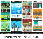 one page website flat ui design ... | Shutterstock .eps vector #203310238
