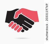 handshake icon. vector... | Shutterstock .eps vector #2033119769