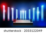 boxing ring arena and spotlight ...   Shutterstock .eps vector #2033122049