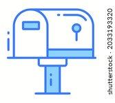 letterbox trendy icon  glyph...