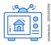 television ad trendy icon ...