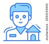 property dealer trendy icon ...
