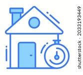 house deadline trendy icon ...