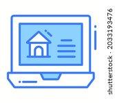 real estate website trendy icon ...