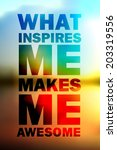 quote typographical background  ... | Shutterstock . vector #203319556