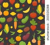 organic food   seamless... | Shutterstock .eps vector #203320288