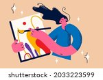 painting  drawing and artwork...   Shutterstock .eps vector #2033223599