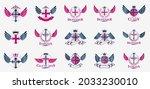 vintage christian crosses... | Shutterstock .eps vector #2033230010