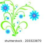 blue flower arrangement  flower ... | Shutterstock .eps vector #203323870