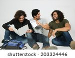 group of multiracial friends... | Shutterstock . vector #203324446