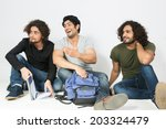 group of multiracial friends... | Shutterstock . vector #203324479